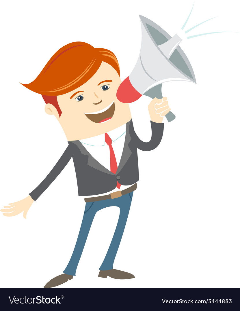 Man with megaphone free clipart picture library Office man megaphone shouting picture library