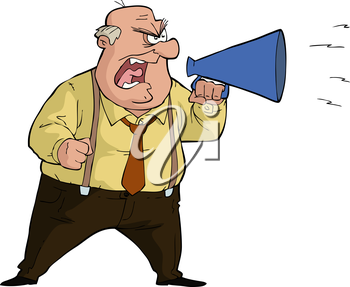 Man with megaphone free clipart png transparent library Royalty Free Clipart Image of a Man Yelling Into a Megaphone ... png transparent library