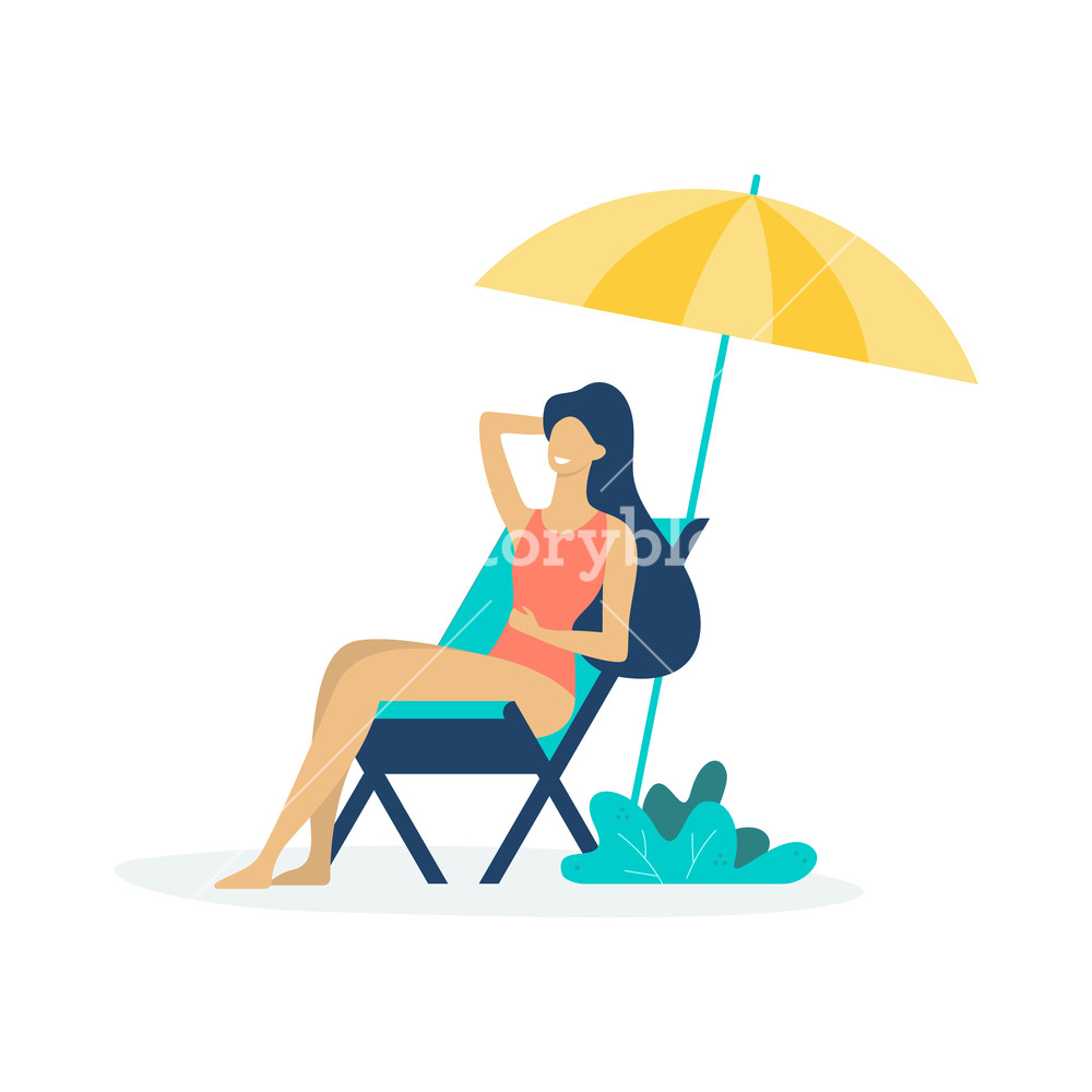 Man & woman on chasie lounger clipart clip royalty free stock Woman sitting on the chaise lounge under the sun Royalty-Free Stock ... clip royalty free stock