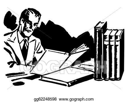 Man working hard clipart black and white graphic freeuse library Stock Illustration - A black and white version of a graphic ... graphic freeuse library