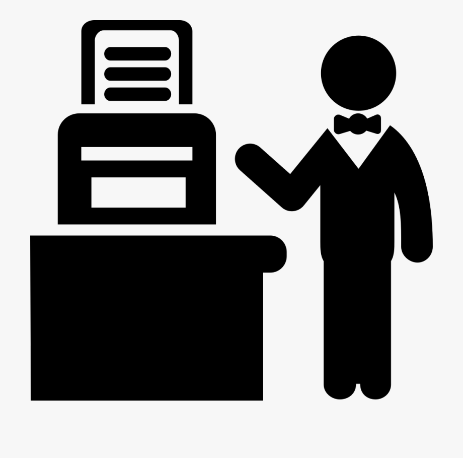 Man working hard clipart black and white png freeuse stock Person Svg Work Clipart - Man Working With Printer #1335128 ... png freeuse stock