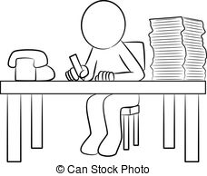 Man working hard clipart black and white vector black and white library A black and white version of a graphic illustration of a ... vector black and white library