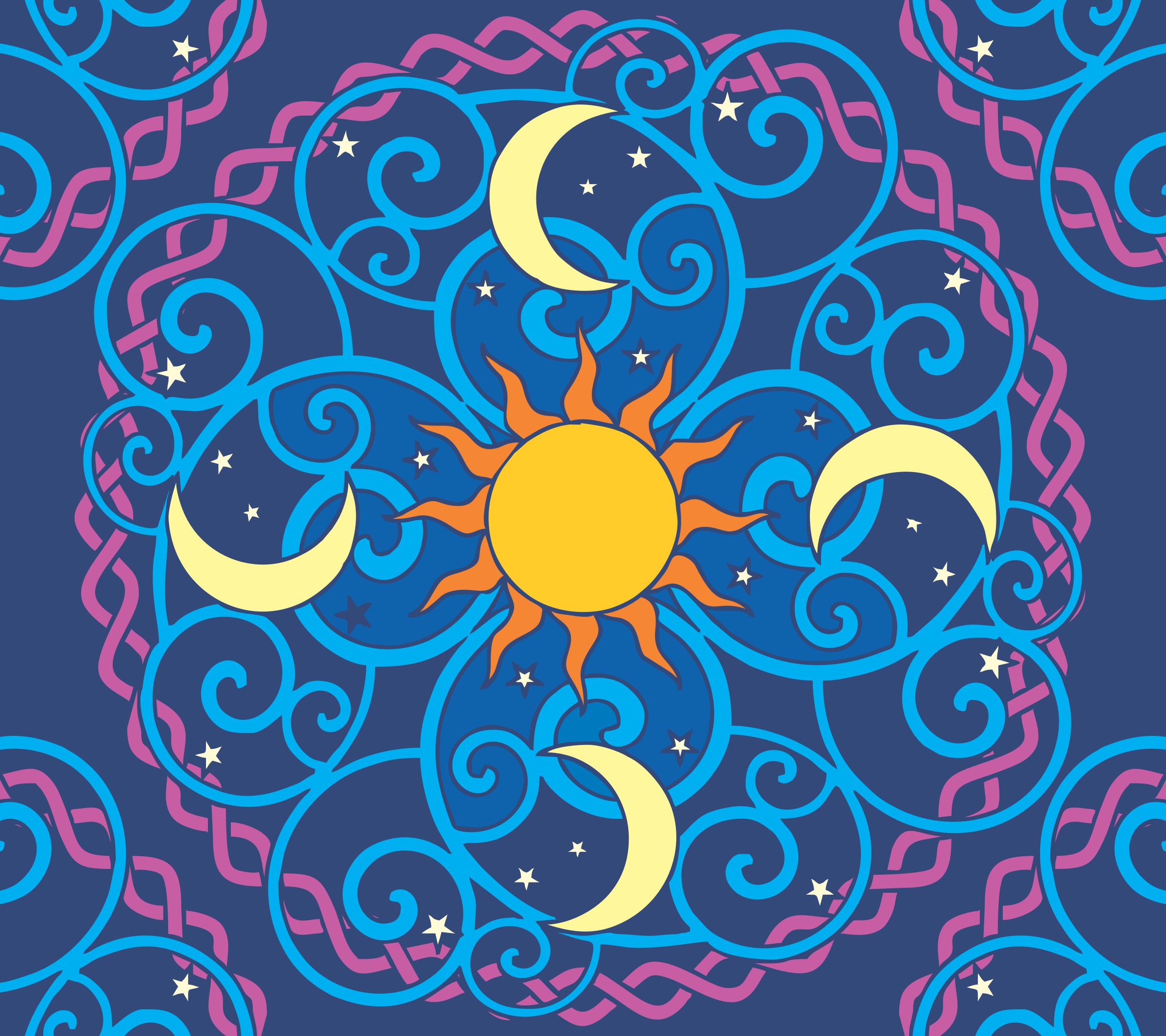 Mandala vector clipart clipart freeuse Sun Moon Mandala vector clipart image - Free stock photo - Public ... clipart freeuse