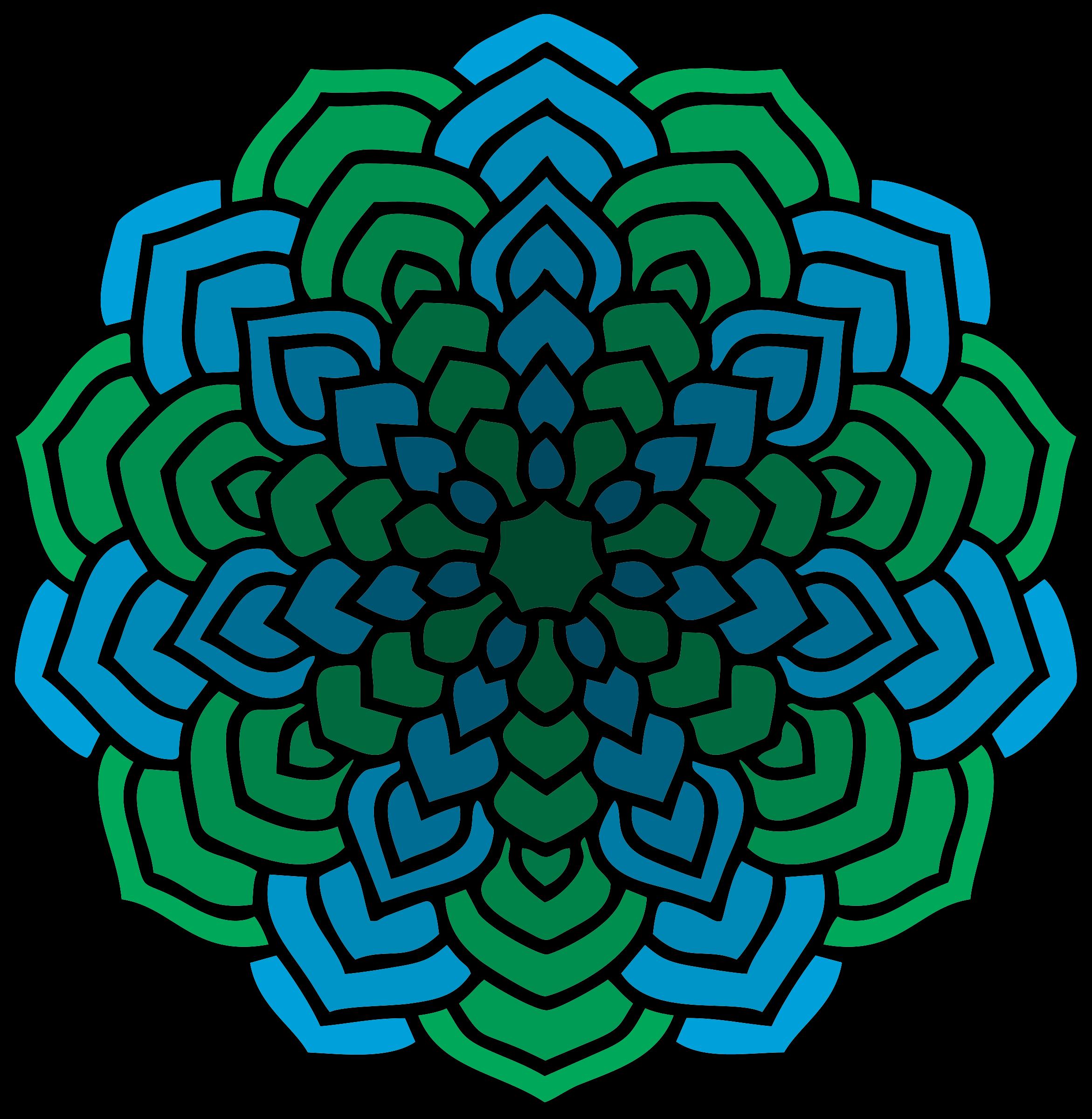 Mandala vector clipart clipart freeuse library Green and Blue Mandala vector clipart image - Free stock photo ... clipart freeuse library
