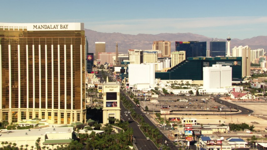 Mandalay bay logo clipart svg transparent library 1080 stock footage aerial video flyby Mandalay Bay to reveal hotels on Las  Vegas Boulevard, Nevada svg transparent library