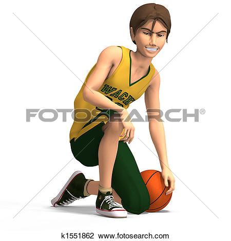 Manga character clipart picture royalty free Clip Art of young manga character in basketball clothesrWith ... picture royalty free