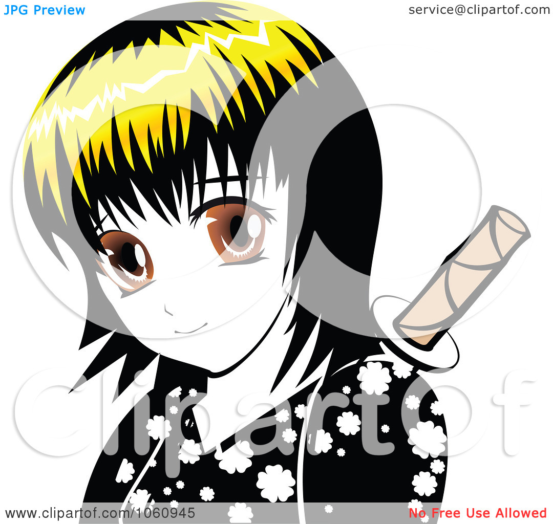 Manga clip art graphic transparent stock Free manga clip art - ClipartFest graphic transparent stock