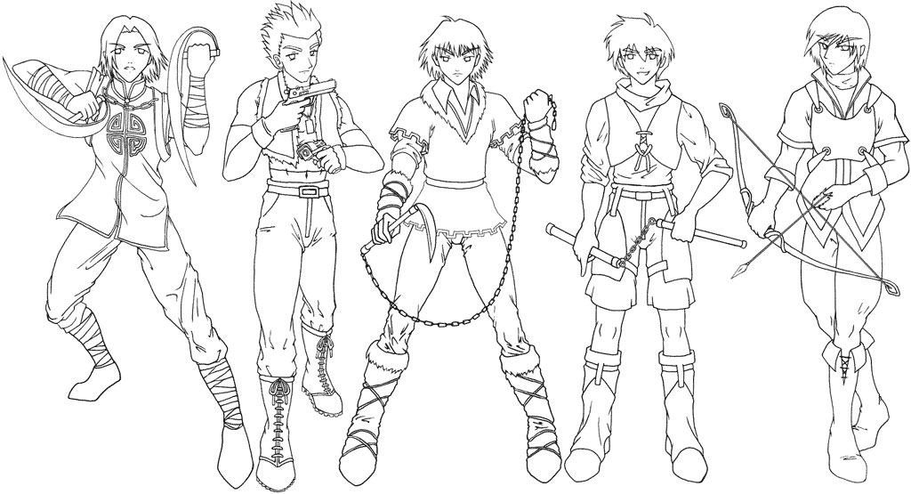 Manga clip art image library Manga clip art - male warriors by sonialeong on DeviantArt image library