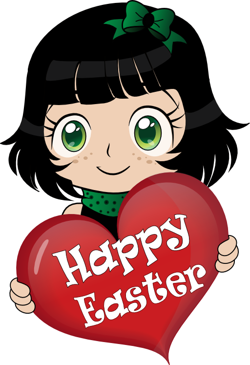 Manga clipart image black and white library Manga Happy Easter Emoticon Smiley Clipart | i2Clipart - Royalty ... image black and white library