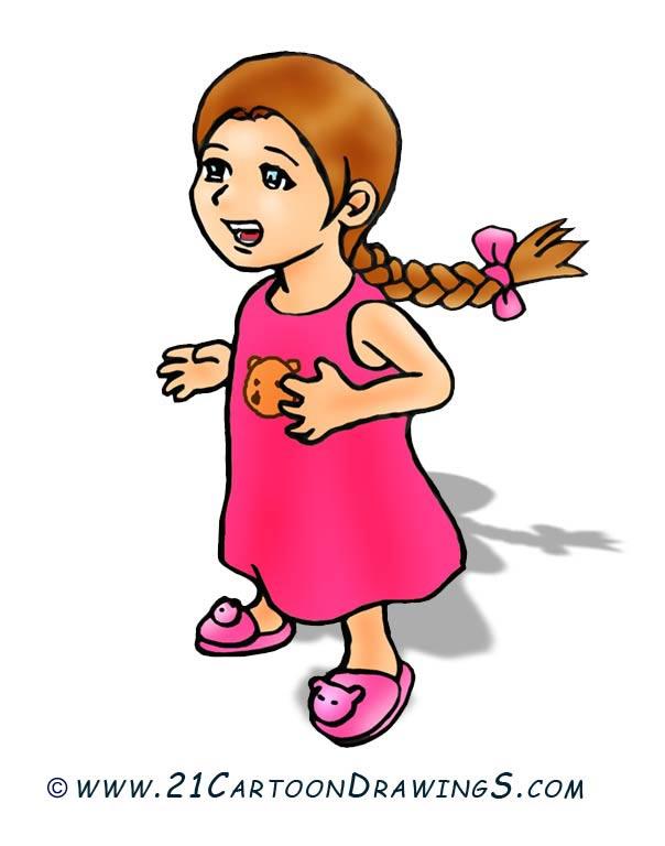Manga girl clipart clipart royalty free stock Cartoon Girl Clipart - Clipart Kid clipart royalty free stock