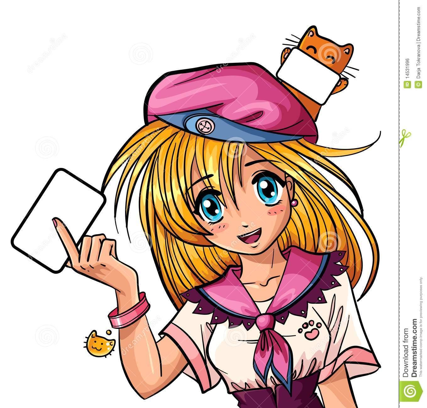 Manga girl clipart image library stock Manga Stock Illustrations – 10,162 Manga Stock Illustrations ... image library stock