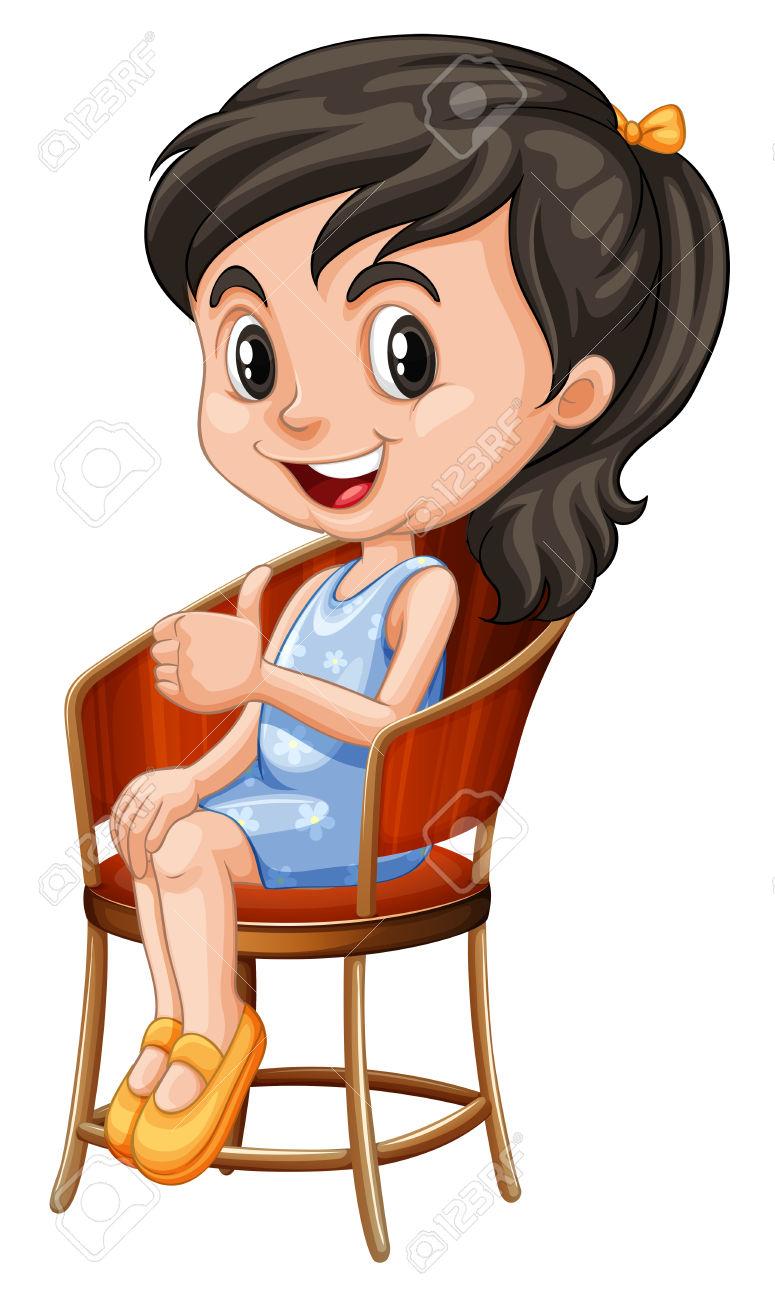 Manga girl sitting down clipart royalty free Sitting down girl clipart - ClipartFox royalty free
