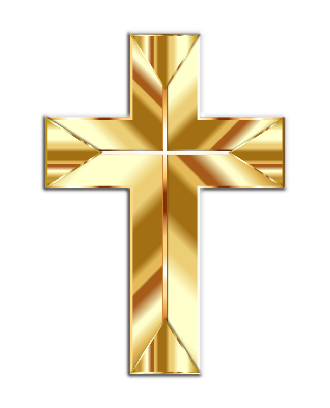 Manger and cross clipart clip transparent stock Small Gold Cross Clip Art - Clipart Vector Illustration • clip transparent stock
