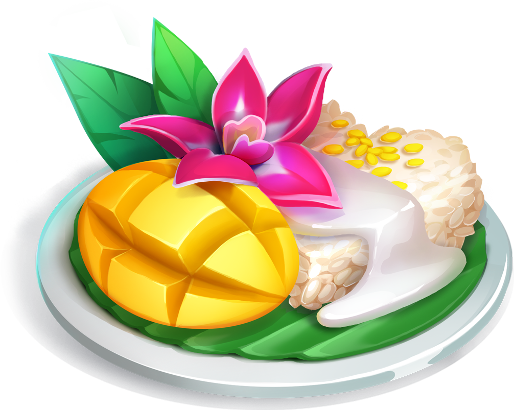 Mango sticky rice clipart picture freeuse download Mango Sticky Rice - Yummy Drop picture freeuse download