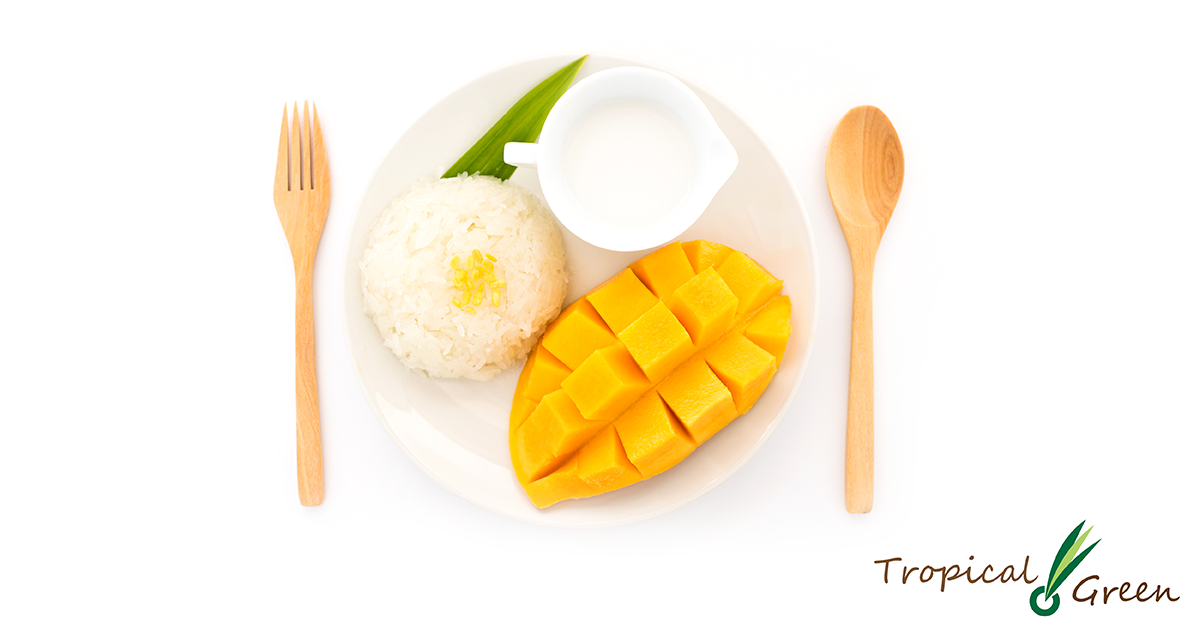 Mango sticky rice clipart black and white stock Thai Sweet Mango Sticky Rice black and white stock