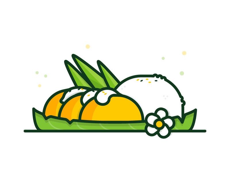 Mango sticky rice clipart transparent download Mango Sticky Rice by Vy Tat on Dribbble transparent download