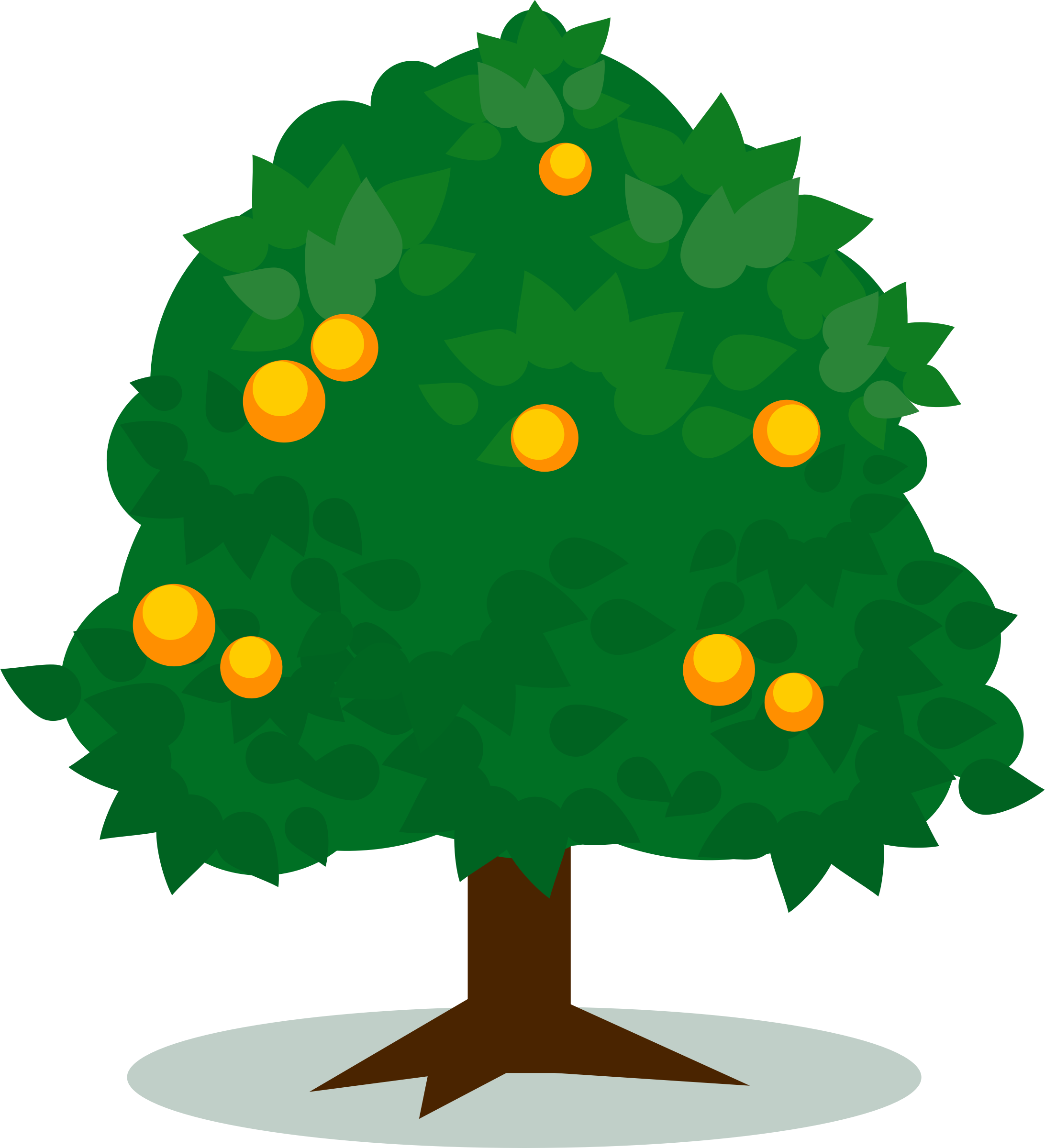 Tree with fruit clipart banner stock Clipart - Tree 4 banner stock