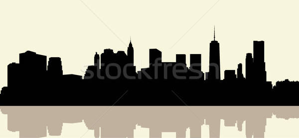 Manhattan skyline black and white clipart vintage png freeuse library Manhattan Stock Vectors, Illustrations and Cliparts | Stockfresh png freeuse library