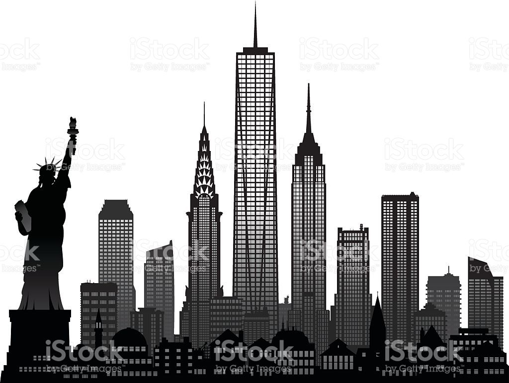 Manhattan skyline black and white clipart vintage svg Image result for empire state building clipart black and white | Set ... svg