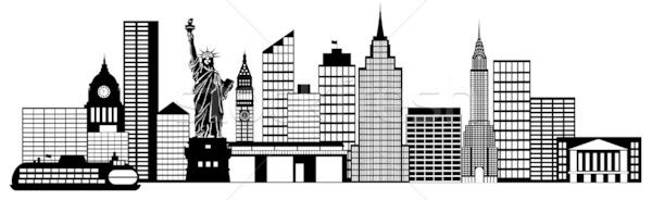 New york city illustration clipart picture free stock New York Skyline Pencil Drawing | Free download best New York ... picture free stock