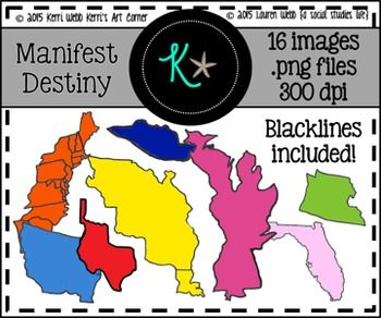 Manifest destiny clip art transparent Manifest Destiny Territories Clip Art | Colors, Originals and Clip art transparent