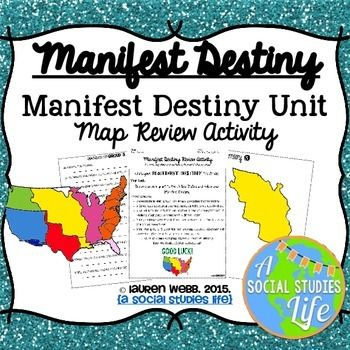 Manifest destiny clipart vector download Manifest Destiny Map Review Activity | Cover pages, Activities and ... vector download