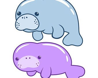 Manitee clipart svg library stock Download for free 10 PNG Manatee clipart drawn Images With ... svg library stock