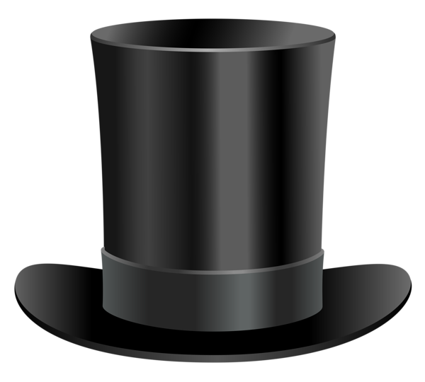 Black Top Hat PNG Clipart | Kapelusze i czapki / Hats and Caps ... banner freeuse stock