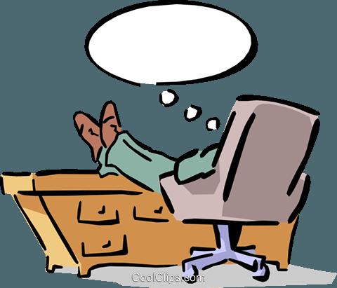 Mann am schreibtisch clipart graphic library download Mann sitzt an seinem Schreibtisch mit den Füßen bis Vektor Clipart ... graphic library download