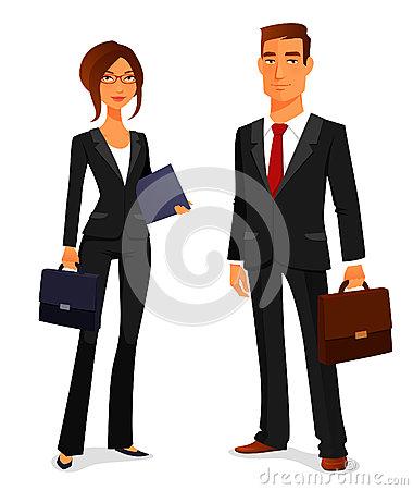 Mann im anzug clipart graphic freeuse download Junger Mann Und Frau Im Anzug Vektor Abbildung - Bild: 43765756 graphic freeuse download