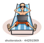 Mann im liegestuhl clipart clip art freeuse download Sitting On Beach Free Vector Art - (2550 Free Downloads) clip art freeuse download