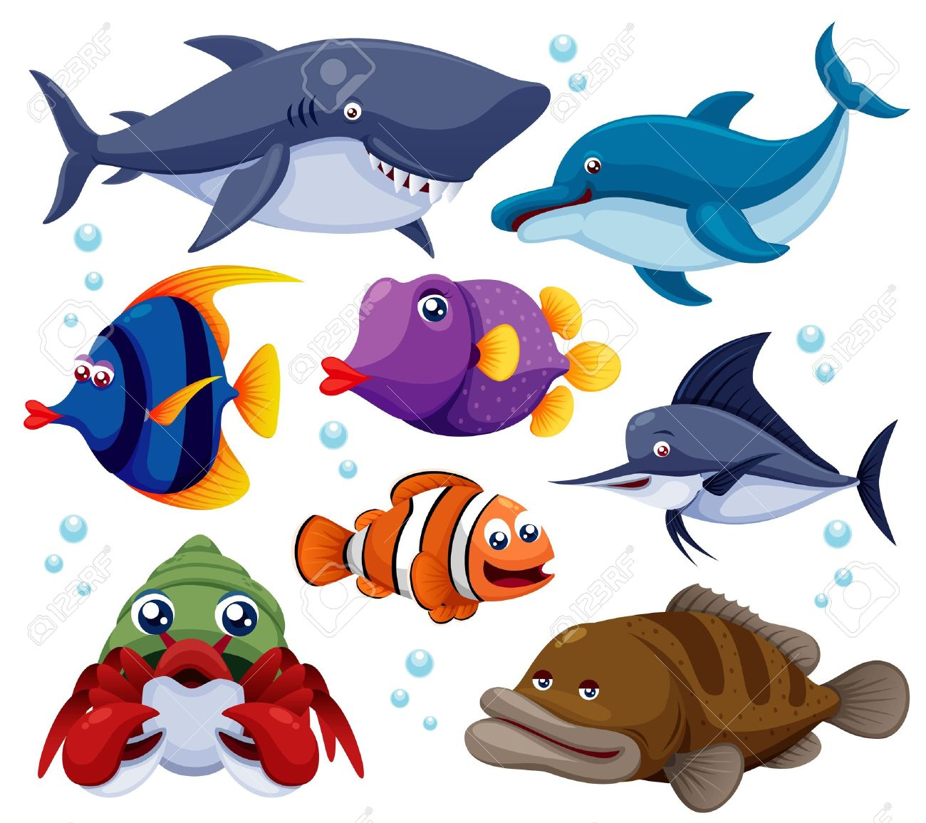 Mann im mond clipart svg transparent stock Fische im meer clipart - ClipartFox svg transparent stock