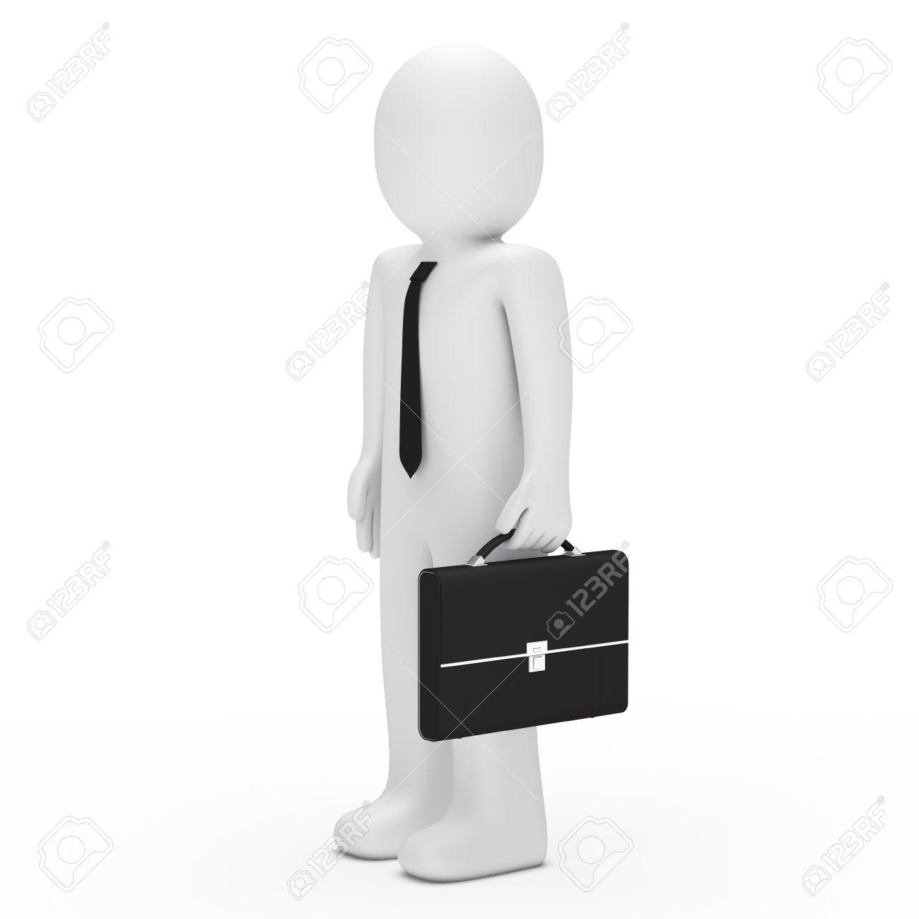 Mann mit aktenkoffer clipart clip transparent stock 3d Geschäftsmann Mit Krawatte Und Aktenkoffer Lizenzfreie Fotos ... clip transparent stock