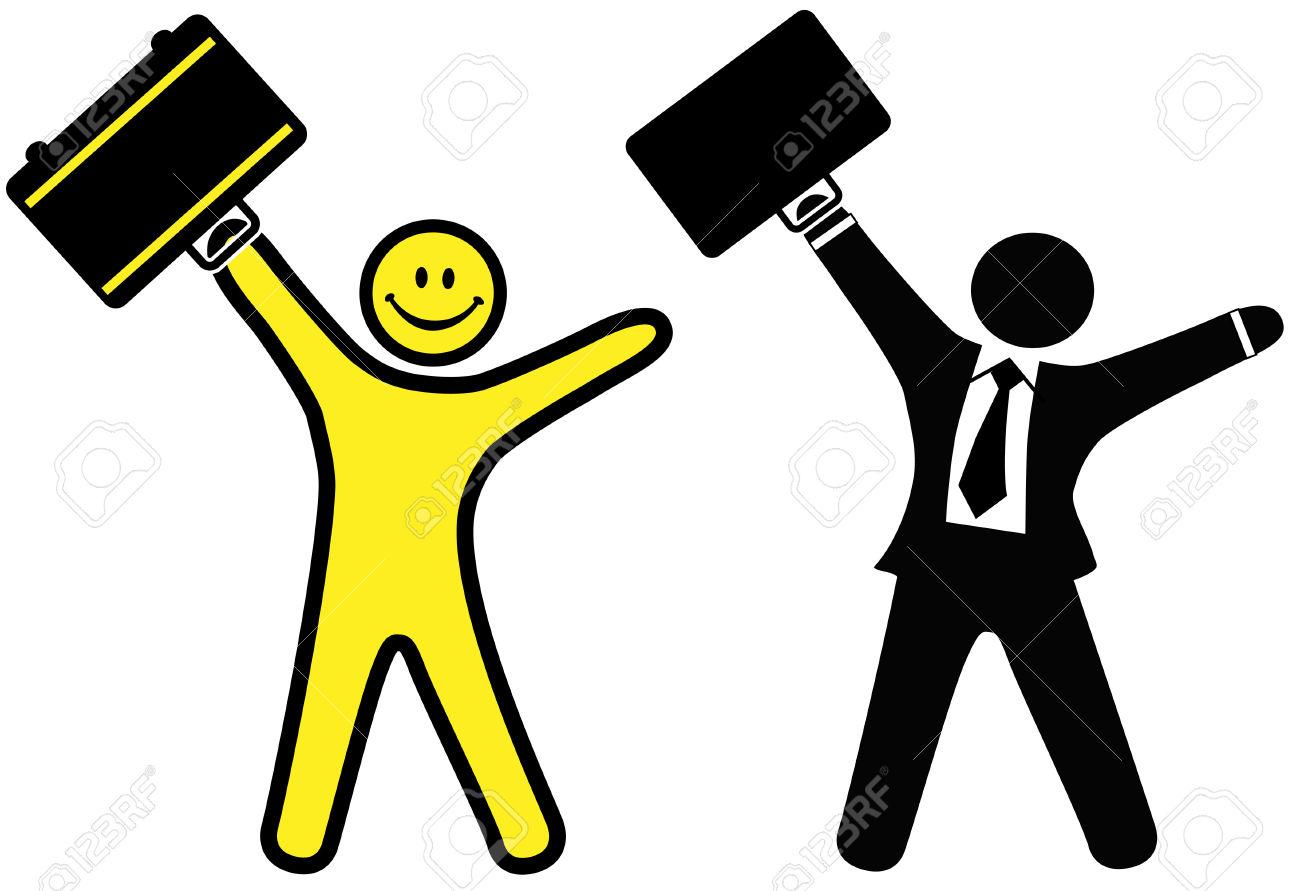 Mann mit aktenkoffer clipart clip art free library Ein Smiley Happy Face & Business Mann In Einem Anzug Und Krawatte ... clip art free library