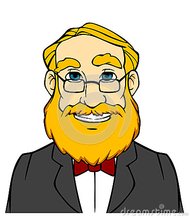 Mann mit bart clipart svg black and white library Cartoon Happy Man With Beard Stock Photos - Image: 37026653 svg black and white library