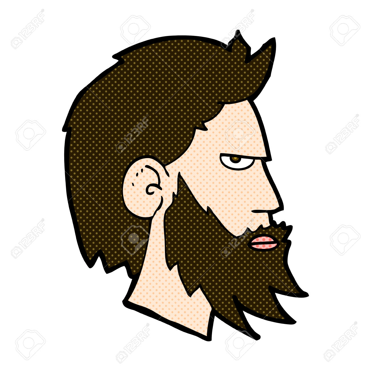 Mann mit bart clipart jpg free library Retro-Comic-Stil Cartoon Mann Mit Bart Lizenzfrei Nutzbare ... jpg free library