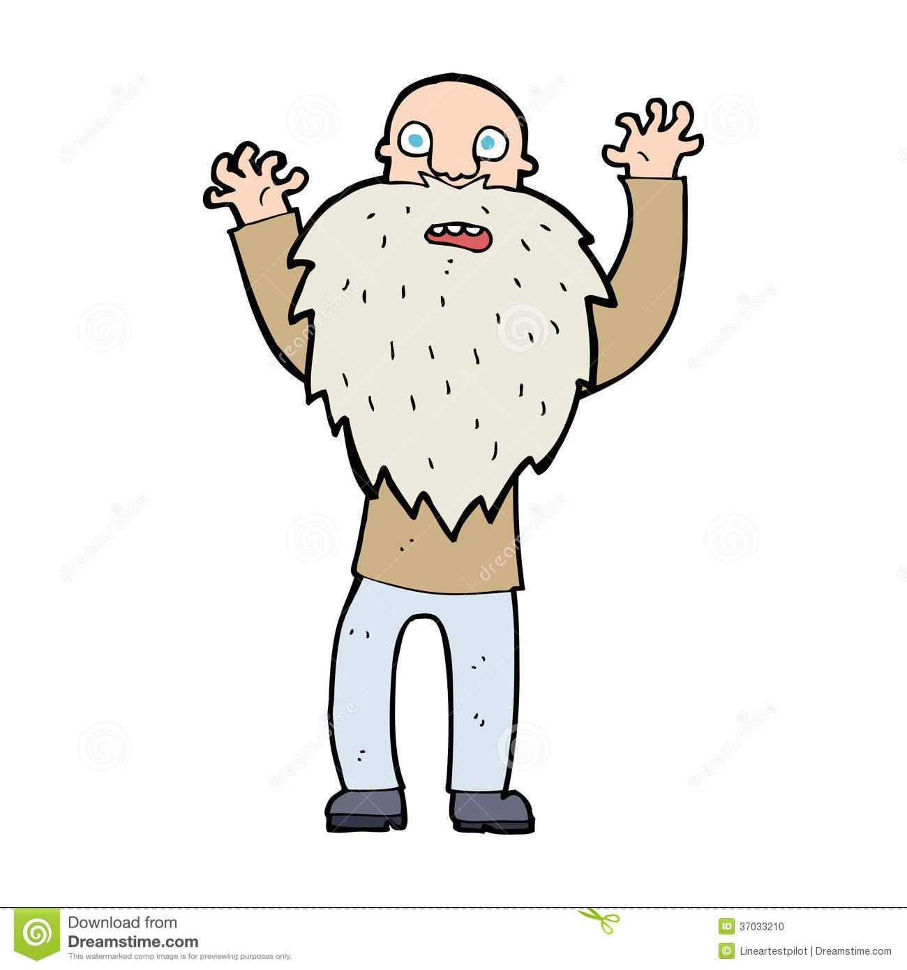 Mann mit bart clipart clipart freeuse stock Karikatur Erschrockener Alter Mann Mit Bart Stockfoto - Bild: 37033210 clipart freeuse stock