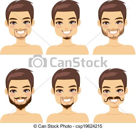 Mann mit bart clipart jpg free download Vektor Clip Art von Stile, brauner, Bart, behaart, Mann - hübsch ... jpg free download