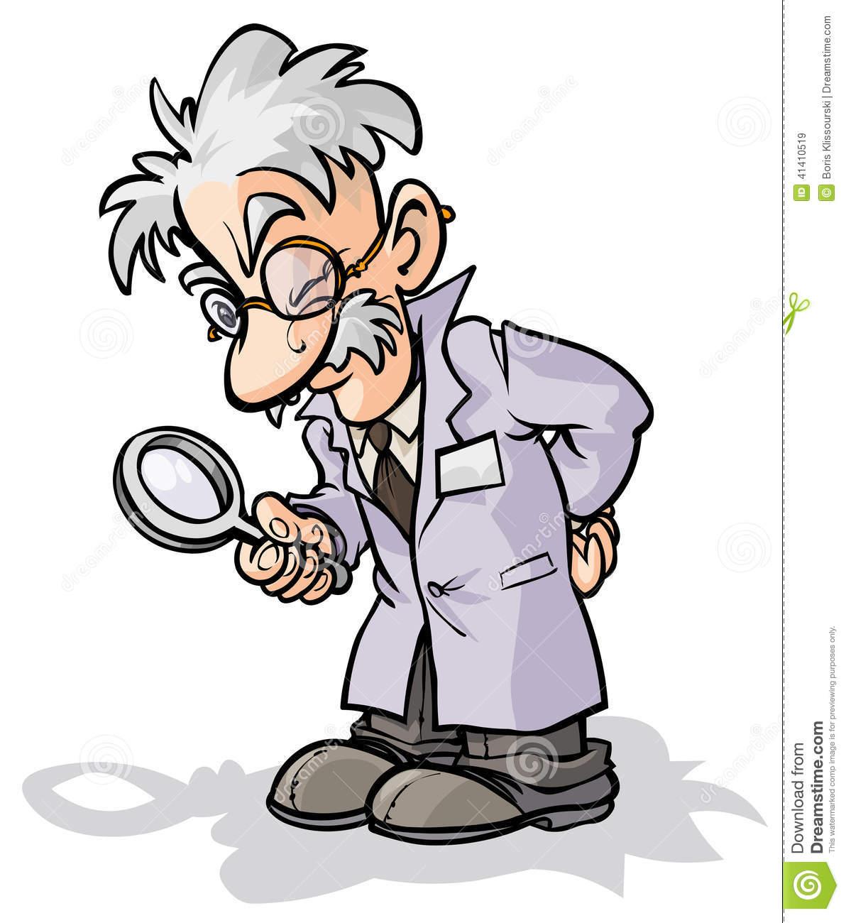 Mann mit lupe clipart image freeuse Wissenschaftler Mit Einer Lupe Vektor Abbildung - Bild: 41410519 image freeuse
