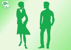 Mann und frau clipart vector royalty free Reden Mann und Frau-Silhouetten, Clipart - Clipart.me vector royalty free