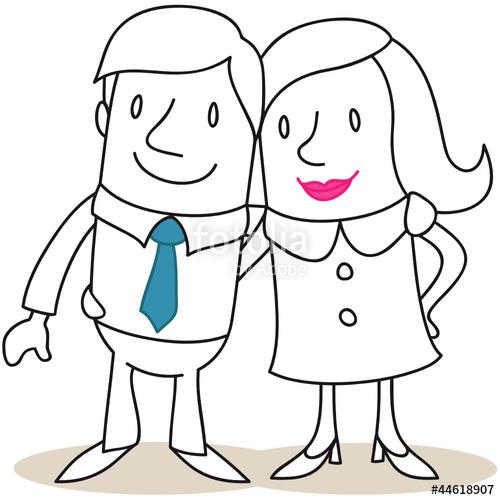 Mann und frau clipart clip art library Figur, Mann, Frau, Paar, Arm in Arm