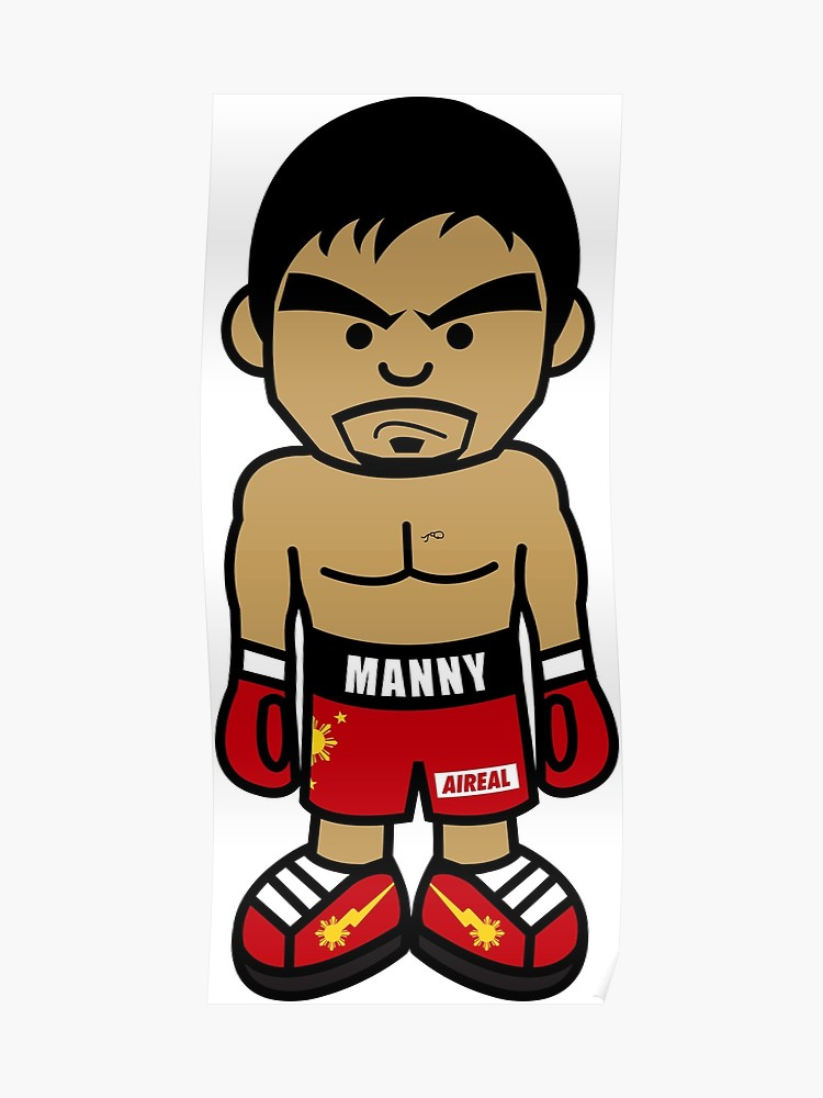 Manny pacquiao clipart picture download Angry Manny Pacquiao Cartoon by AiReal Apparel | Poster picture download