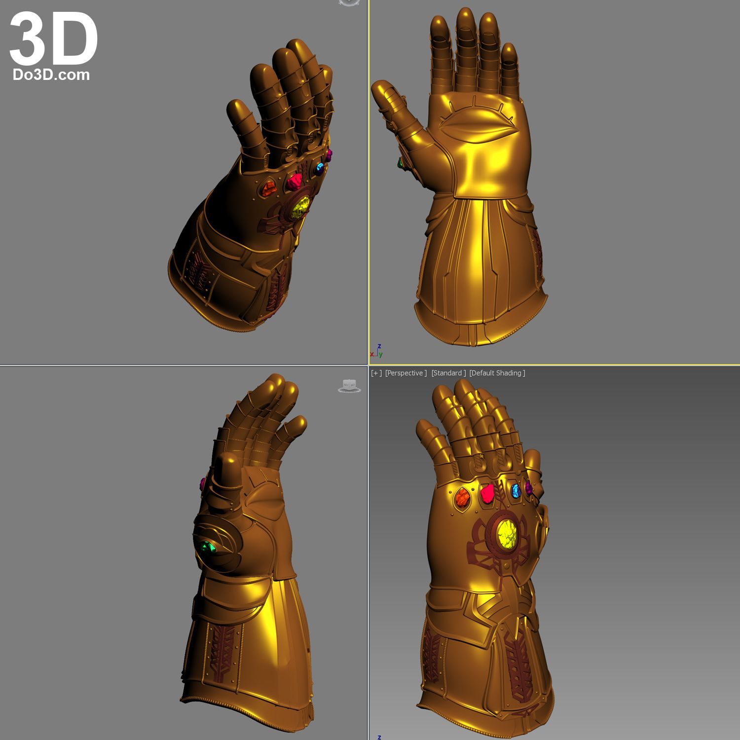 Manopla do infinito clipart png library download 3D Printable Model: Thanos Infinity Gauntlet (Forearm & Glove) D23 ... png library download
