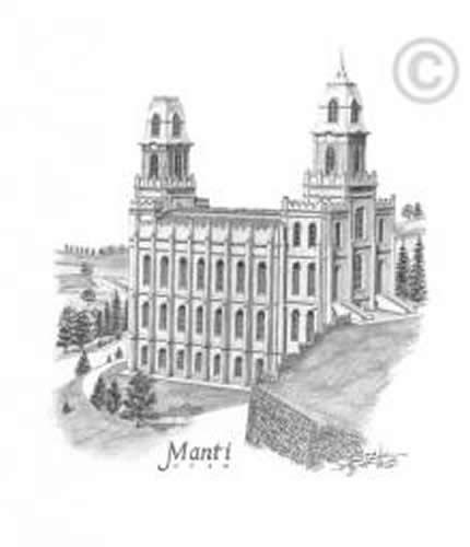 Manti temple clipart