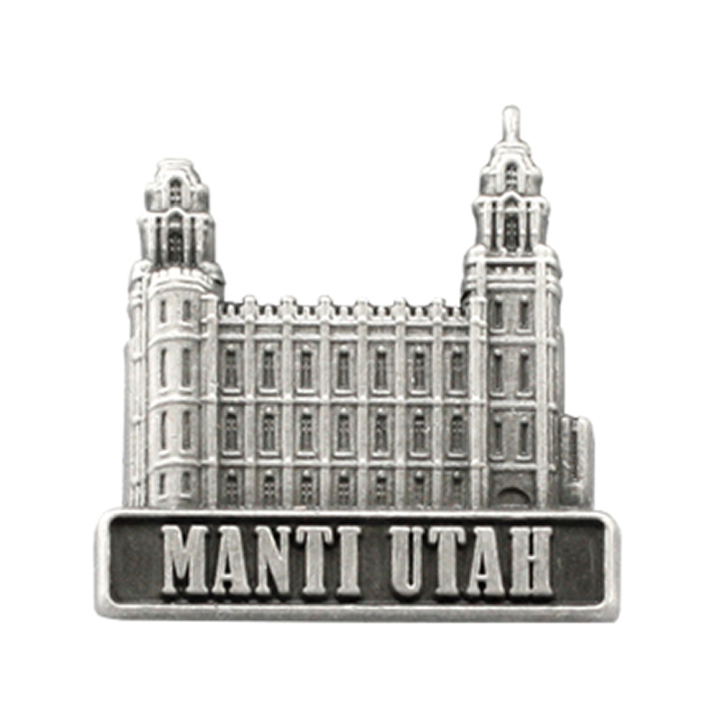 Manti temple clipart clip library Manti Utah Temple Pin - Silver clip library