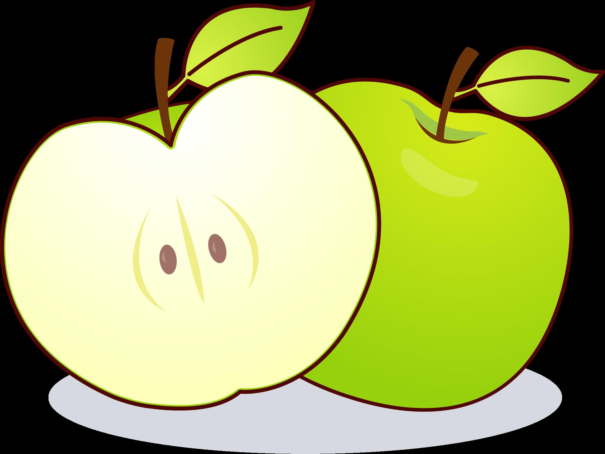 Manzana verde clipart
