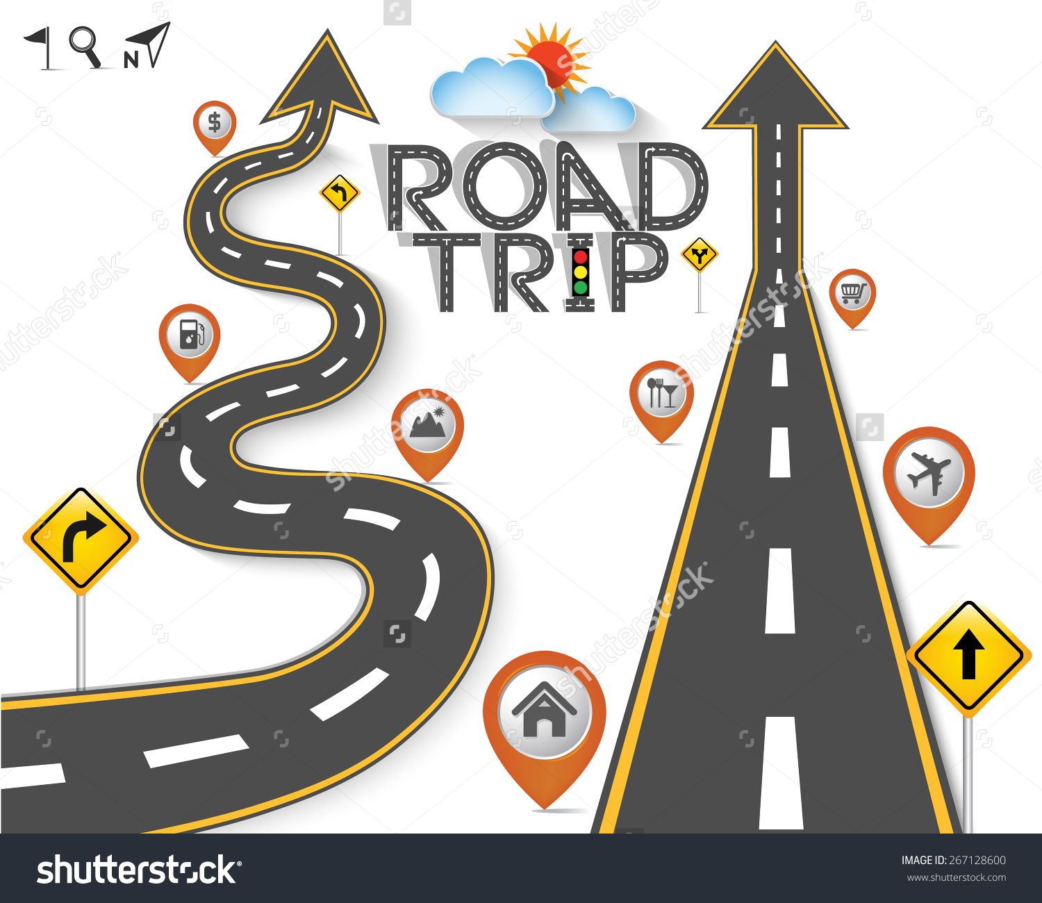 Map and road clipart picture transparent Road trip map clipart - ClipartFox picture transparent