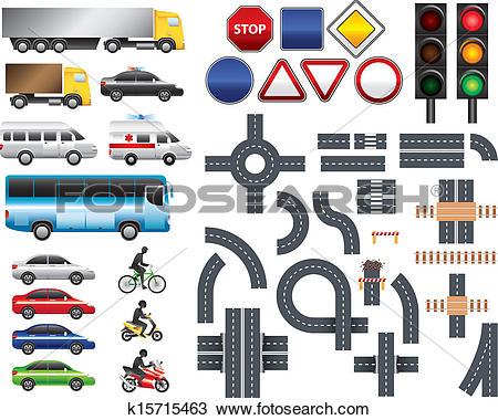 Map and road clipart vector black and white Clipart of Road map toolkit big vector set k15715463 - Search Clip ... vector black and white
