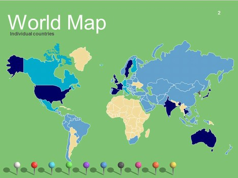 Map clipart for powerpoint image library library World Maps Vector Editable – Updated image library library