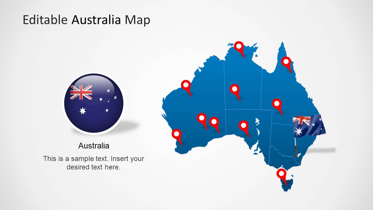 Map clipart for powerpoint graphic stock Australia Map Template for PowerPoint - SlideModel graphic stock